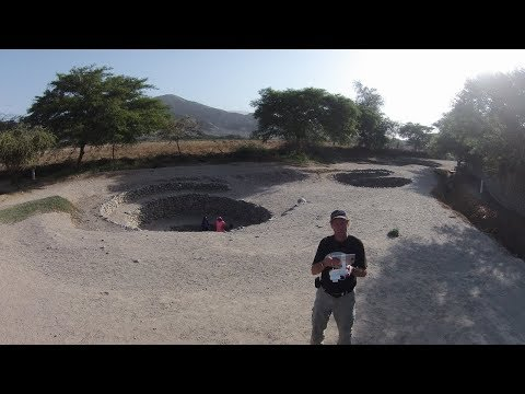 Ancient Puquio Well System Of Nazca Peru; Via Quadcopter